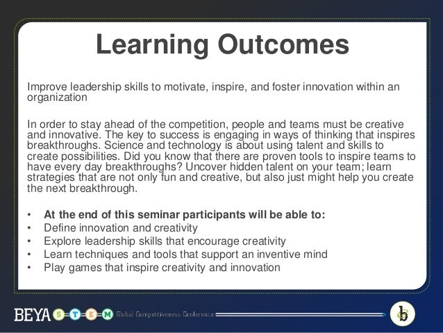 Unlocking Innovation: Training Teams and Individuals to have Every Day Breakthroughs Slide 3