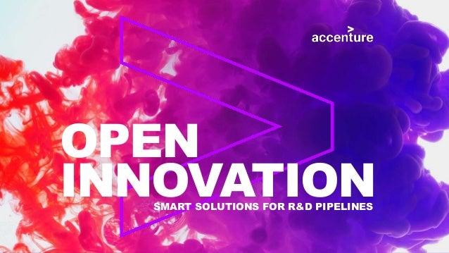 OPEN INNOVATIONSMART SOLUTIONS FOR R&D PIPELINES