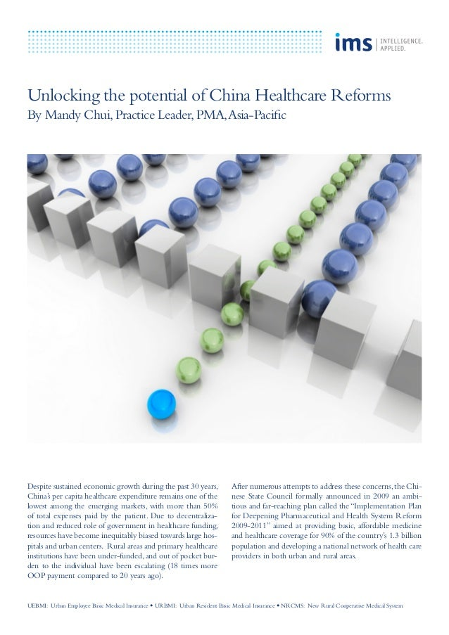 Unlocking the potential of China Healthcare Reforms By Mandy Chui,Practice Leader,PMA,Asia-Pacific Despite sustained econo...