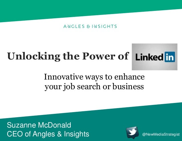 Unlocking the Power of Suzanne McDonald CEO of Angles & Insights Innovative ways to enhance your job search or business @N...