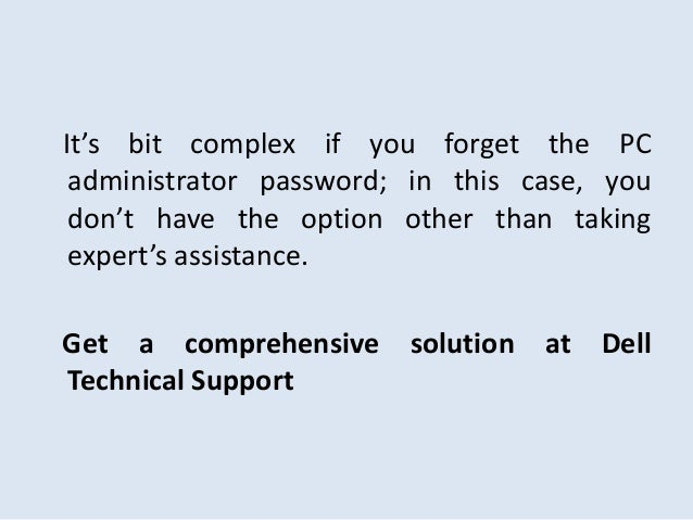 administrator password dell laptop