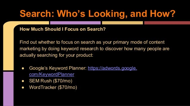 How Much Should I Focus on Search? Find out whether to focus on search as your primary mode of content marketing by doing ...
