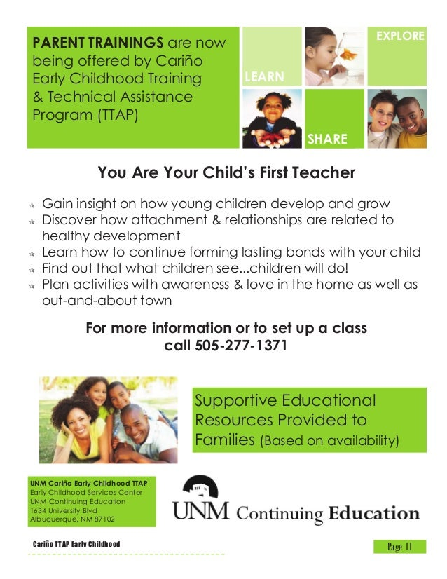 Cariño Early Childhood Ttap At Unm Continuing Education 4th Quarter 2