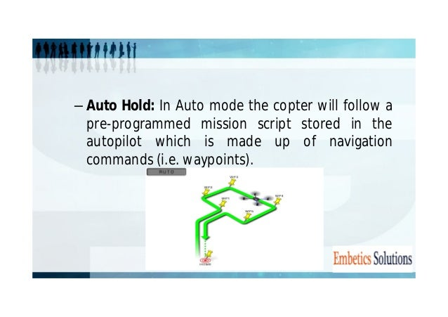 • RTL Mode: In return to launch (RTL) mode, the  copter navigates from its current position to hover  above the home posit...