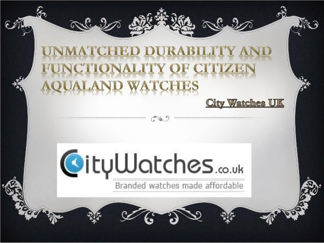 Let's face it – the Citizen Aqualand Watches are not meant for the homebody or the couch potato. In fact, the rugged, fash...