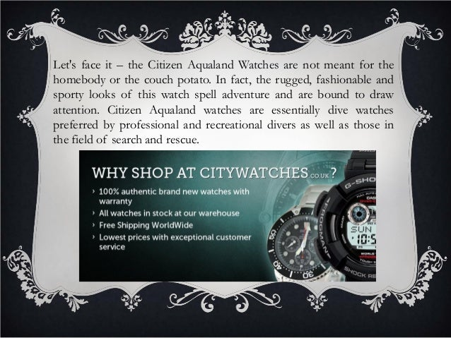 Unmatched durability and functionality of citizen aqualand watches Slide 2
