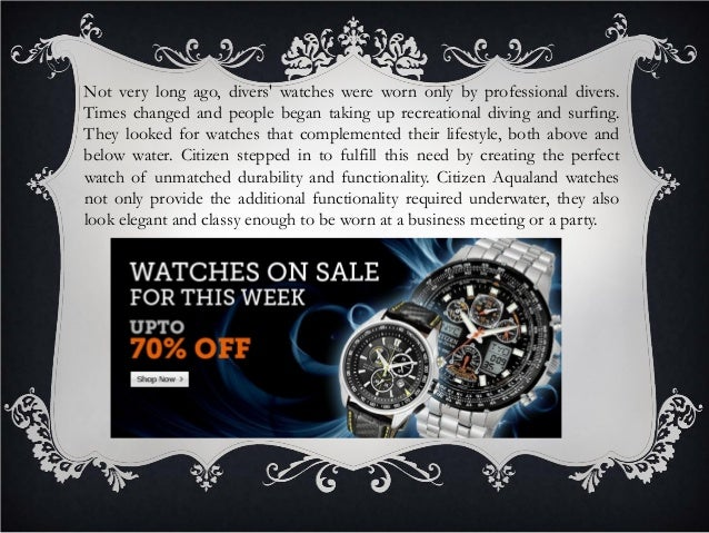 Unmatched durability and functionality of citizen aqualand watches Slide 3