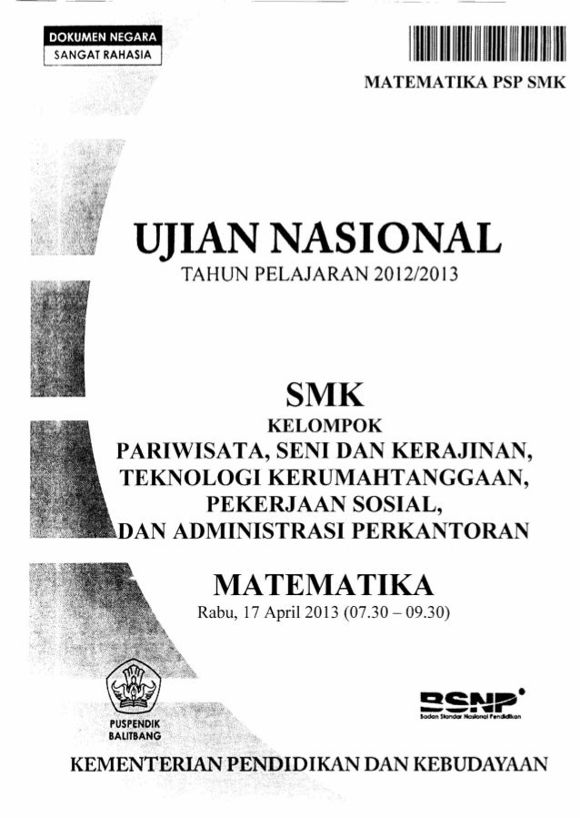 Soal Ujian Nasional Un Matematika Th Pel 2012 2013 Ap