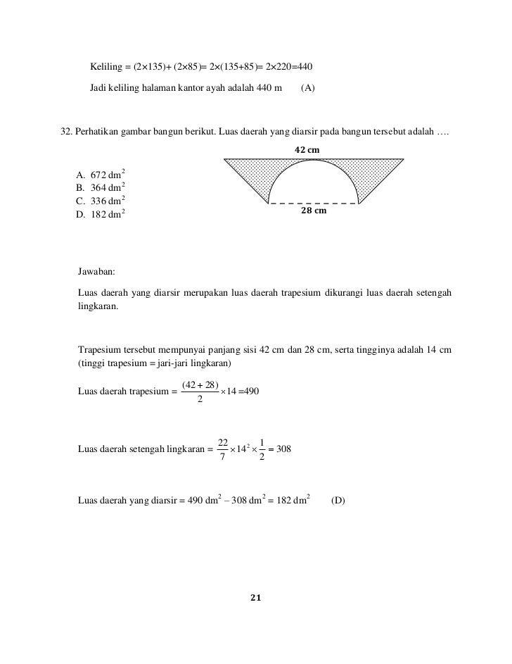 Pembahasan Soal Un Matematika Sd Mi 2010 2011