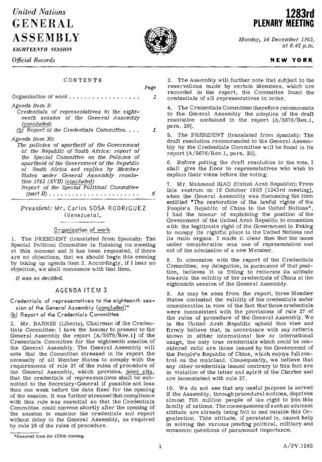 UN Meeting Minutes Dec1963 Malaysia
