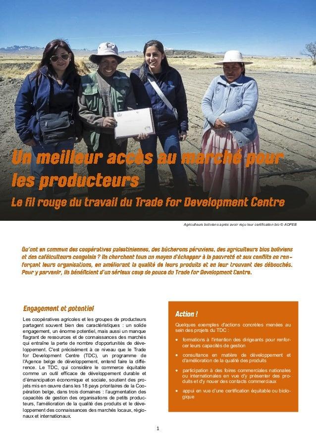 1 Agriculteurs boliviens après avoir reçu leur certification bio © AOPEB Les coopératives agricoles et les groupes de prod...