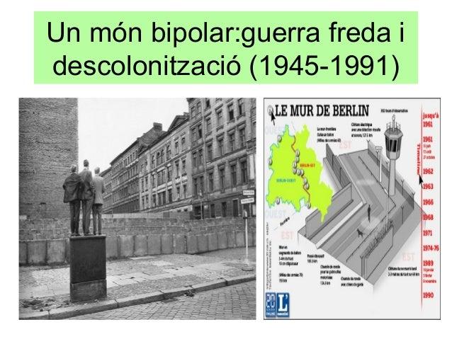 Un món bipolar:guerra freda idescolonització (1945-1991)