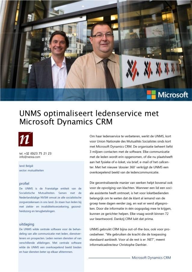 Microsoft Dynamics CRM +32 (0)23 75 21 23