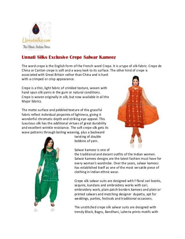 fccb0999c0040b Unnati silks crepe silk salwar kameez online