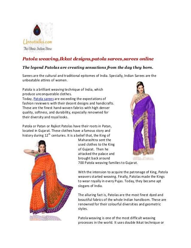 Patola Weaving Sarees Online