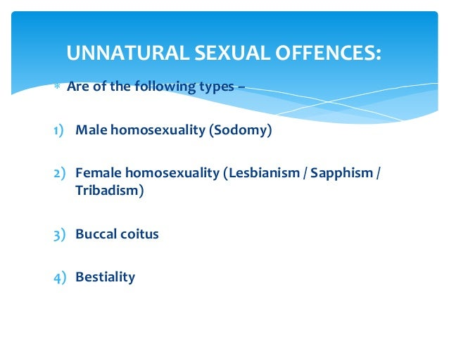 All the different sex offences