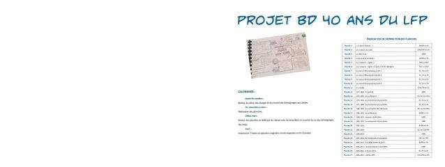 Projet BD 40 ans du LFP