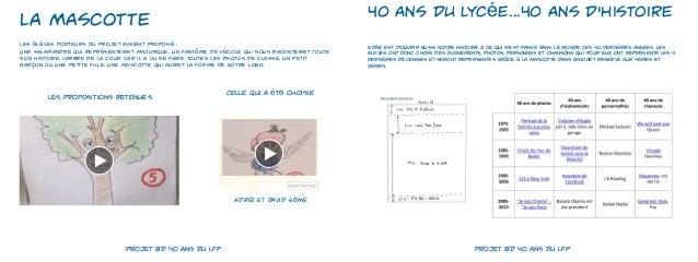 Projet BD 40 ans du LFP Slide 2