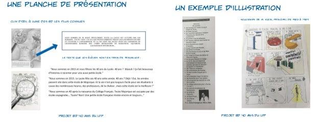 Projet BD 40 ans du LFP Slide 3