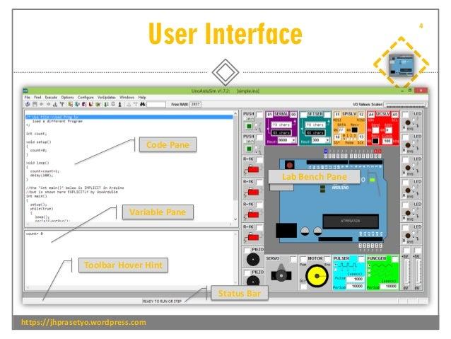 User Interface https://jhprasetyo.wordpress.com 4 Variable Pane Code Pane Lab Bench Pane Toolbar Hover Hint Status Bar