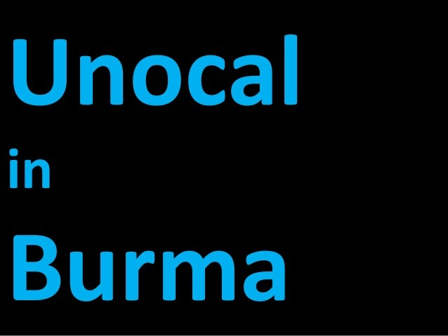 case of unocal burma