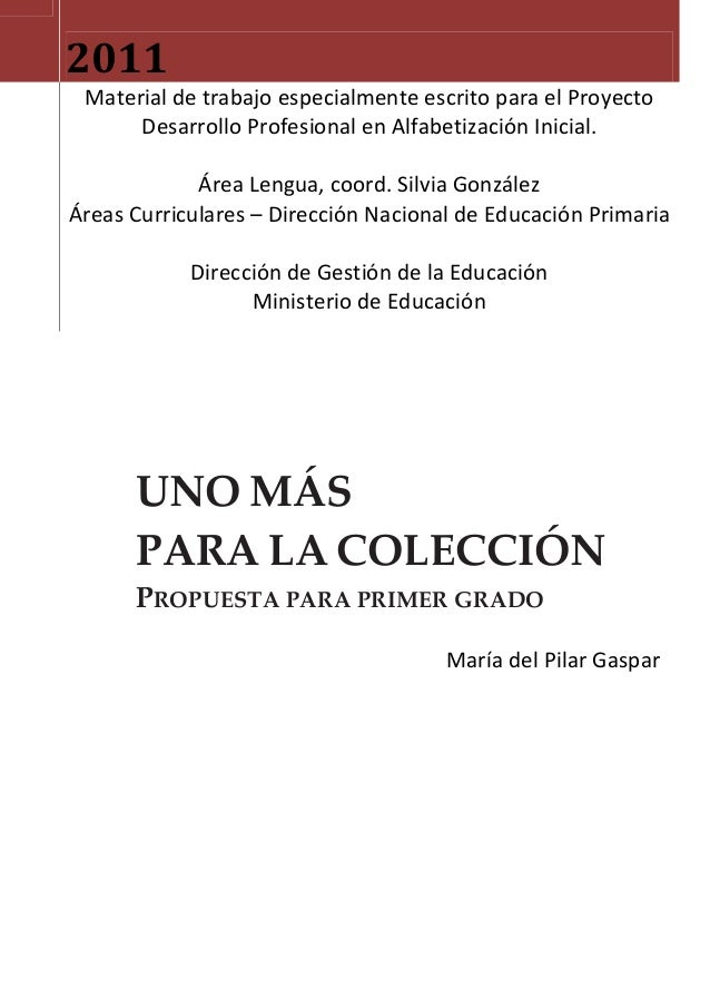 UNO MÁS PARA LA COLECCIÓN morochitos, 1er. grado