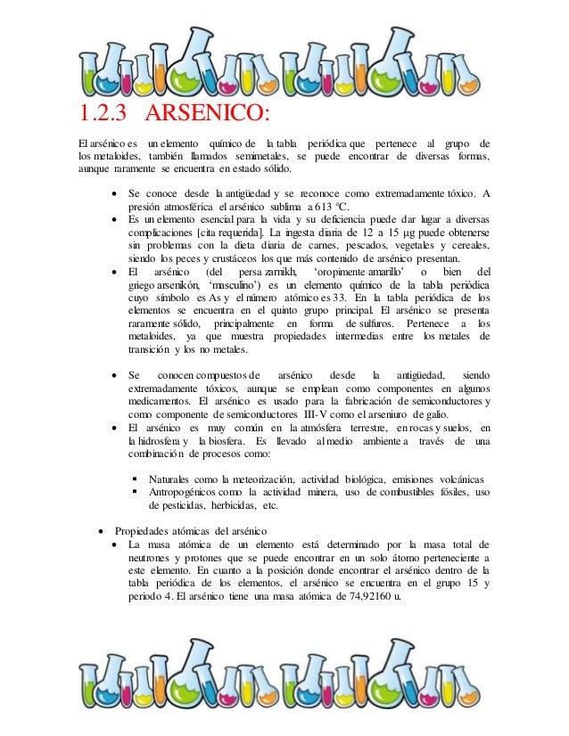 Trabajo quimica 38 123 arsenico el arsnico es un elemento qumico de la tabla peridica urtaz Gallery