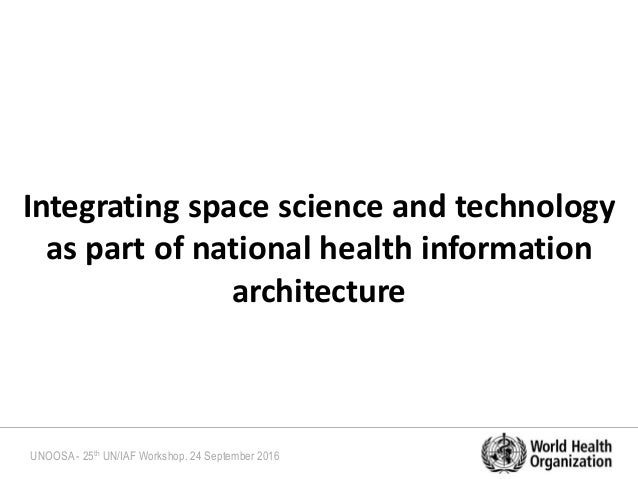 Space Science and Technology for Advancing Health-related SDGs