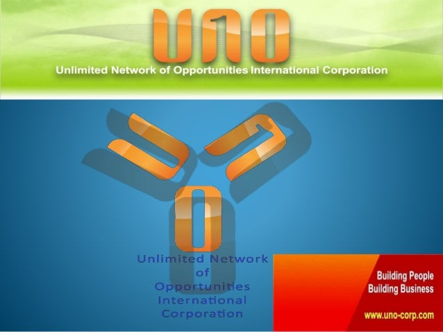 Unlimited Network of Opportunities International Corporation (or UNO) is a convergence of the finest network marketers in ...