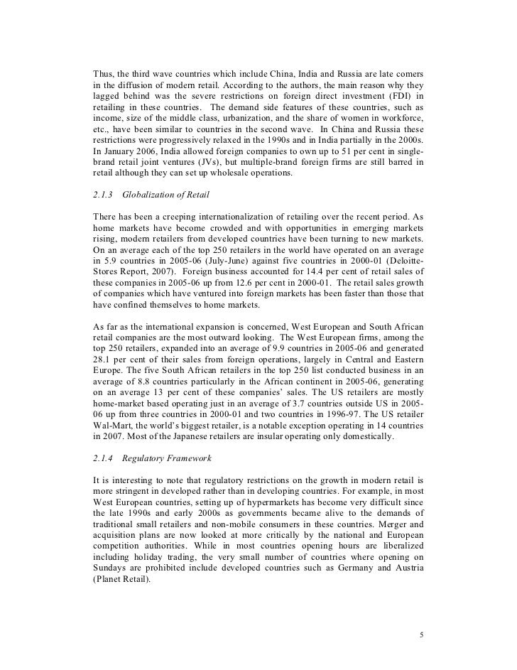 a comparative study of retailing in india essay Essay example: comparative study of pepsi and coca-cola (india)  channel –  the access to retail channel s industry s w o t analysis: o strengths.