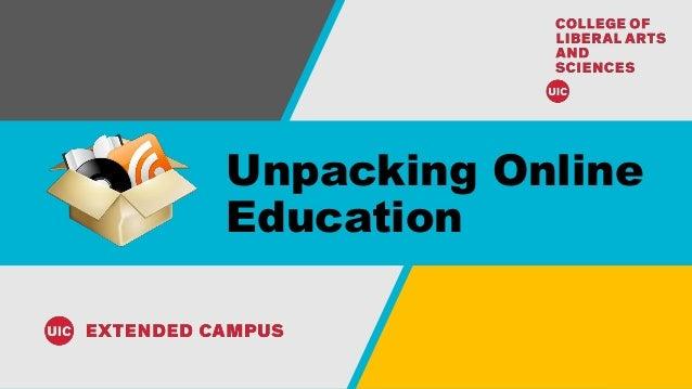 Unpacking Online Education
