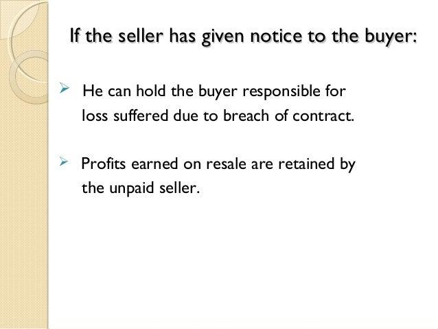 unpaid seller ppt
