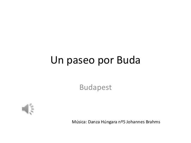 Un paseo por Buda Budapest  Música: Danza Húngara nº5 Johannes Brahms