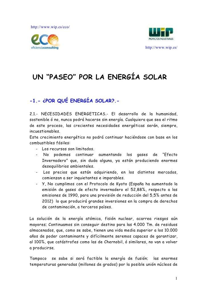 """http://www.wip.es/eco/                                                            http://www.wip.es/ UN """"PASEO"""" POR LA ENE..."""