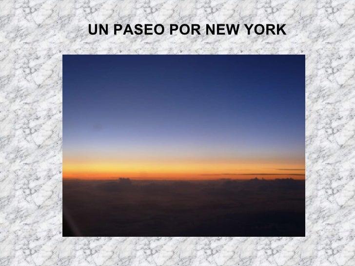 UN PASEO POR NEW YORK