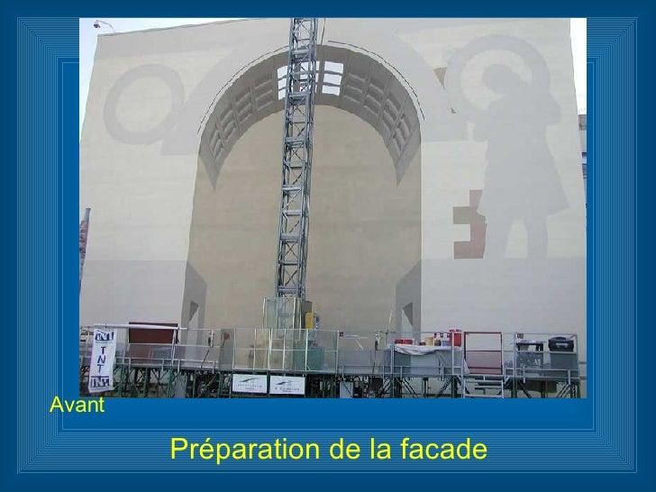 Préparation de la facade Avant