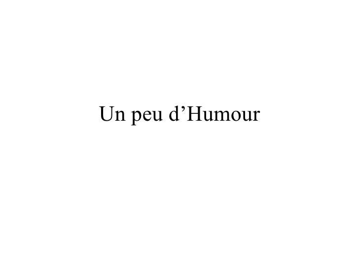 Un peu d'Humour