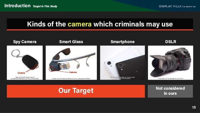"""15 Introduction Target in This Study Kinds of the camera which criminals may use Our Target """"Spy Car Remote Control Camera..."""