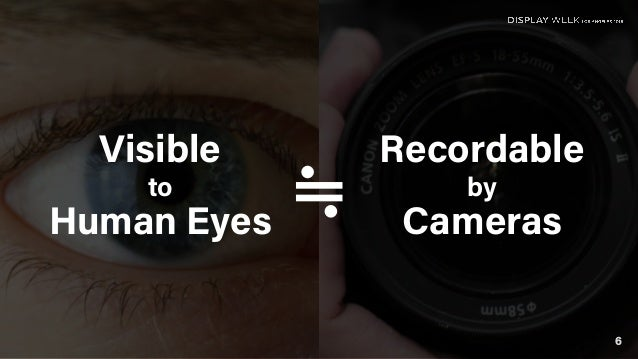 Visible to Human Eyes Recordable by Cameras≒ 6