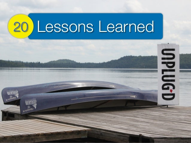 Lessons Learned20