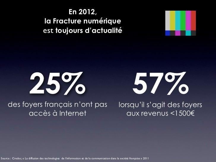 En 2012,                                  la Fracture numérique                                  est toujours d'actualité ...