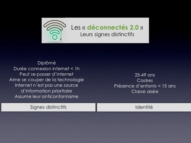 Les «Déconnectés 2.0» Comment leur parler ?
