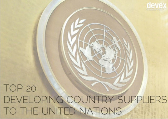 Of the $15.4 billion worth of goods and services the United Nations procured in 2012, 62 percent were from developing coun...
