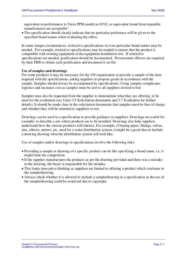 Un procurement practitioners handbook