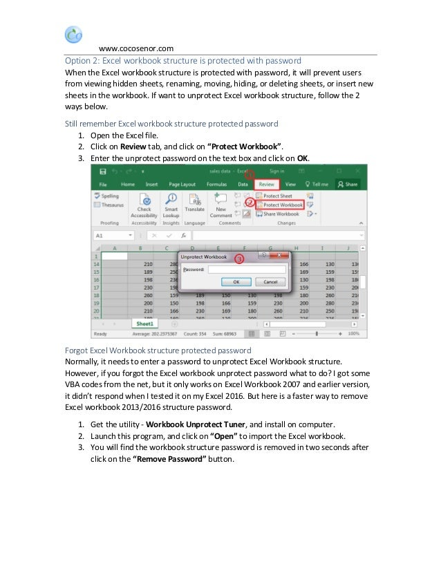 how to unprotect a workbook in excel vba
