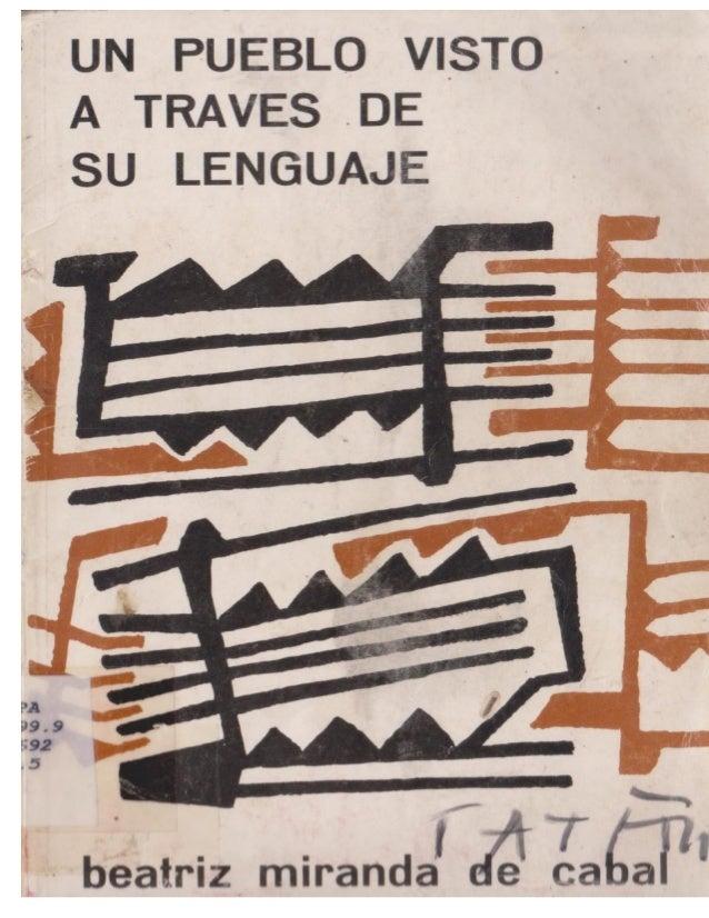 Un pueblo visto atraves de su lenguaje