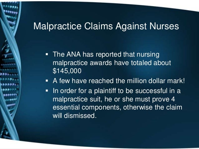 case studies nursing malpractice Examples of medical negligence what does it mean for a doctor to be negligent here are a few examples of treatment by a medical professional that could potentially give rise to a medical malpractice case by dennis abrams, attorney share on google plus share on facebook.