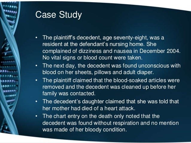 Coroner's Report: discuss the importance of documentation in health care