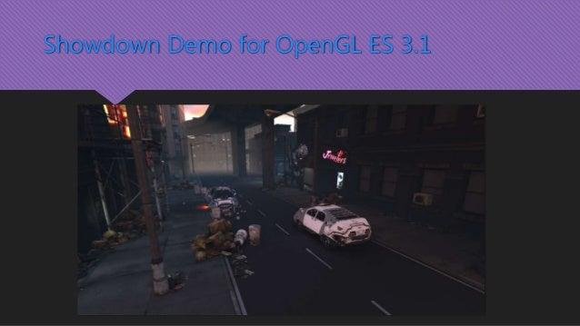 Showdown Demo for OpenGL ES 3.1