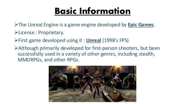 Unreal Engine (For Creating Games) Presentation